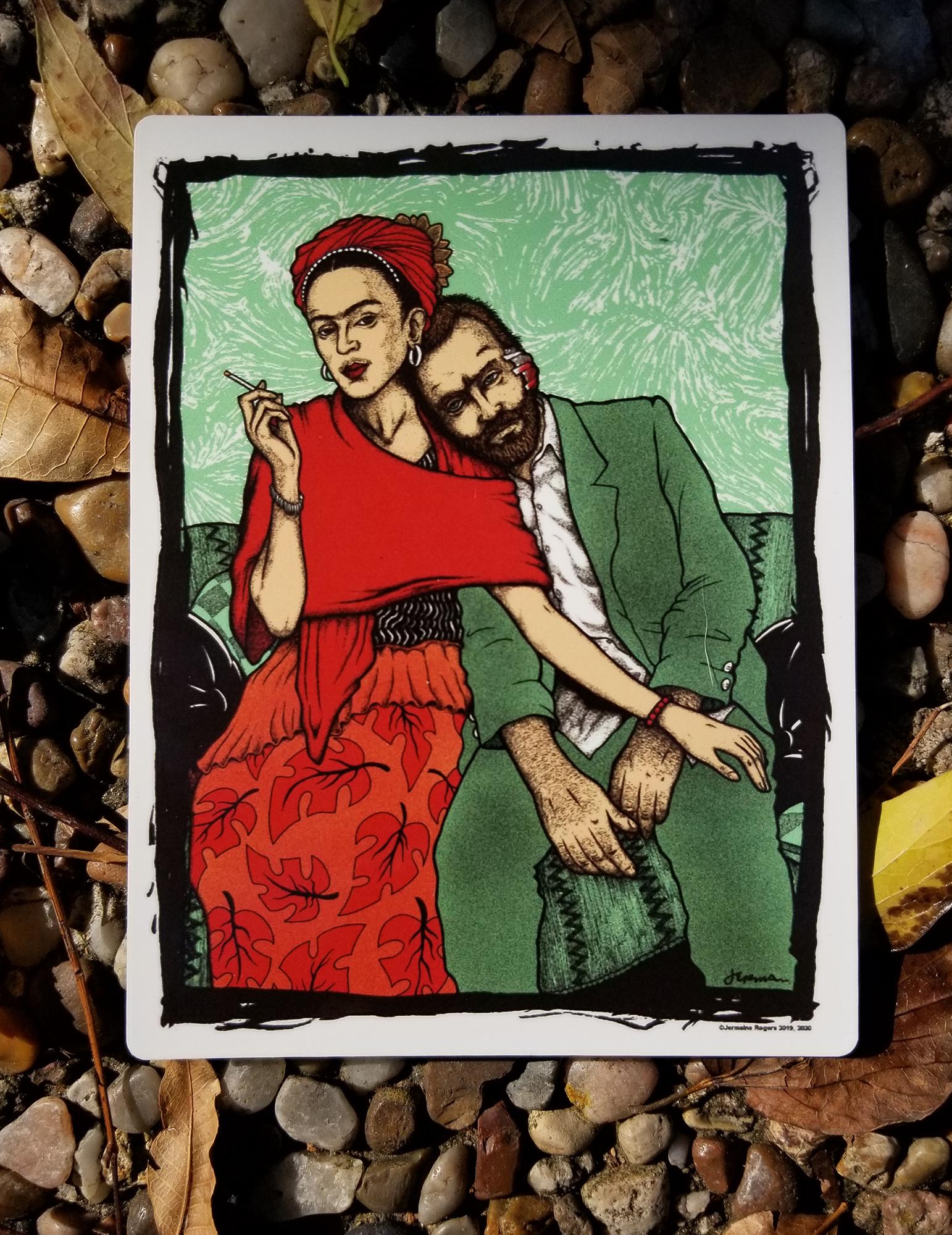 NEW - 'Frida & Vincent' VINYL STICKER