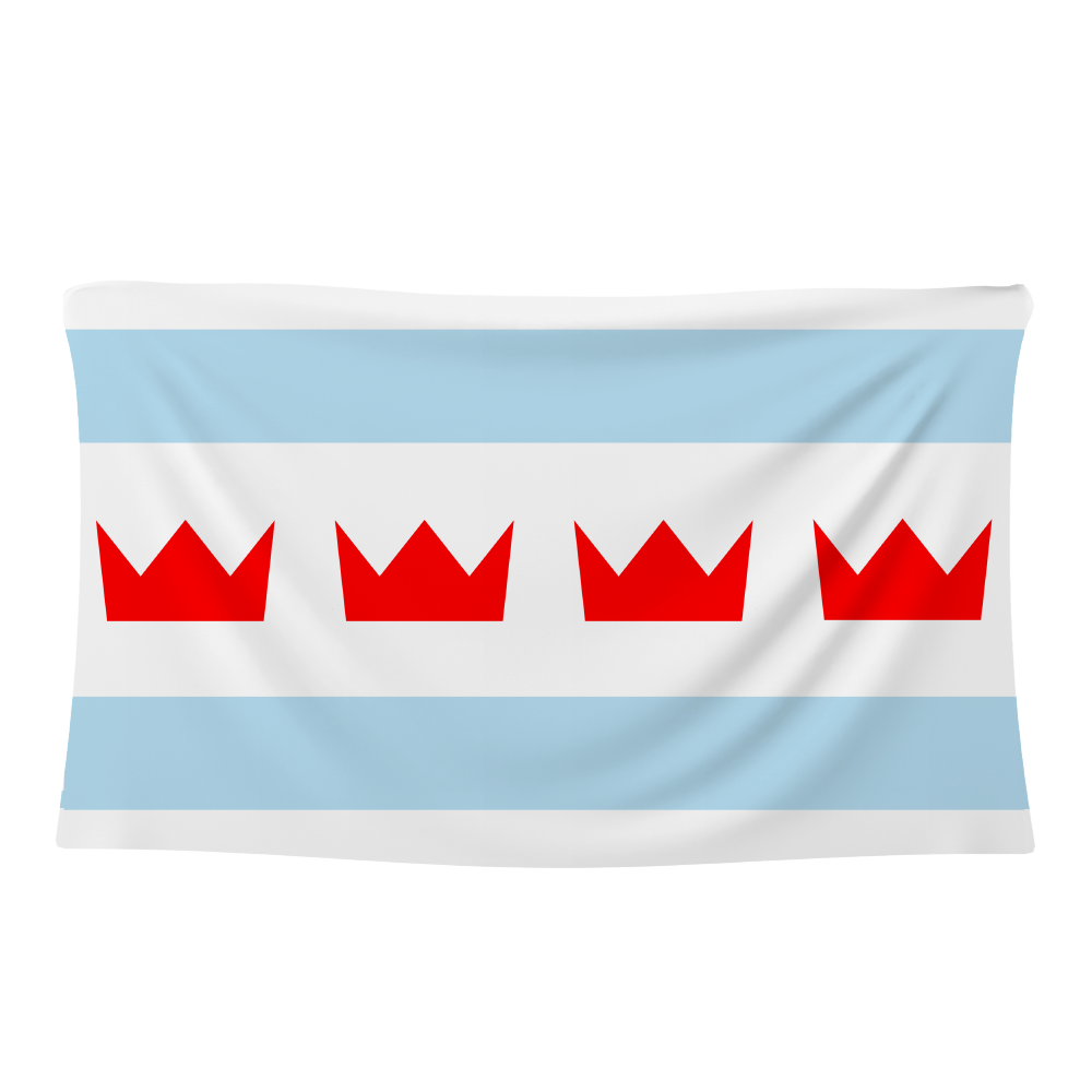 Chicago Crown Flag