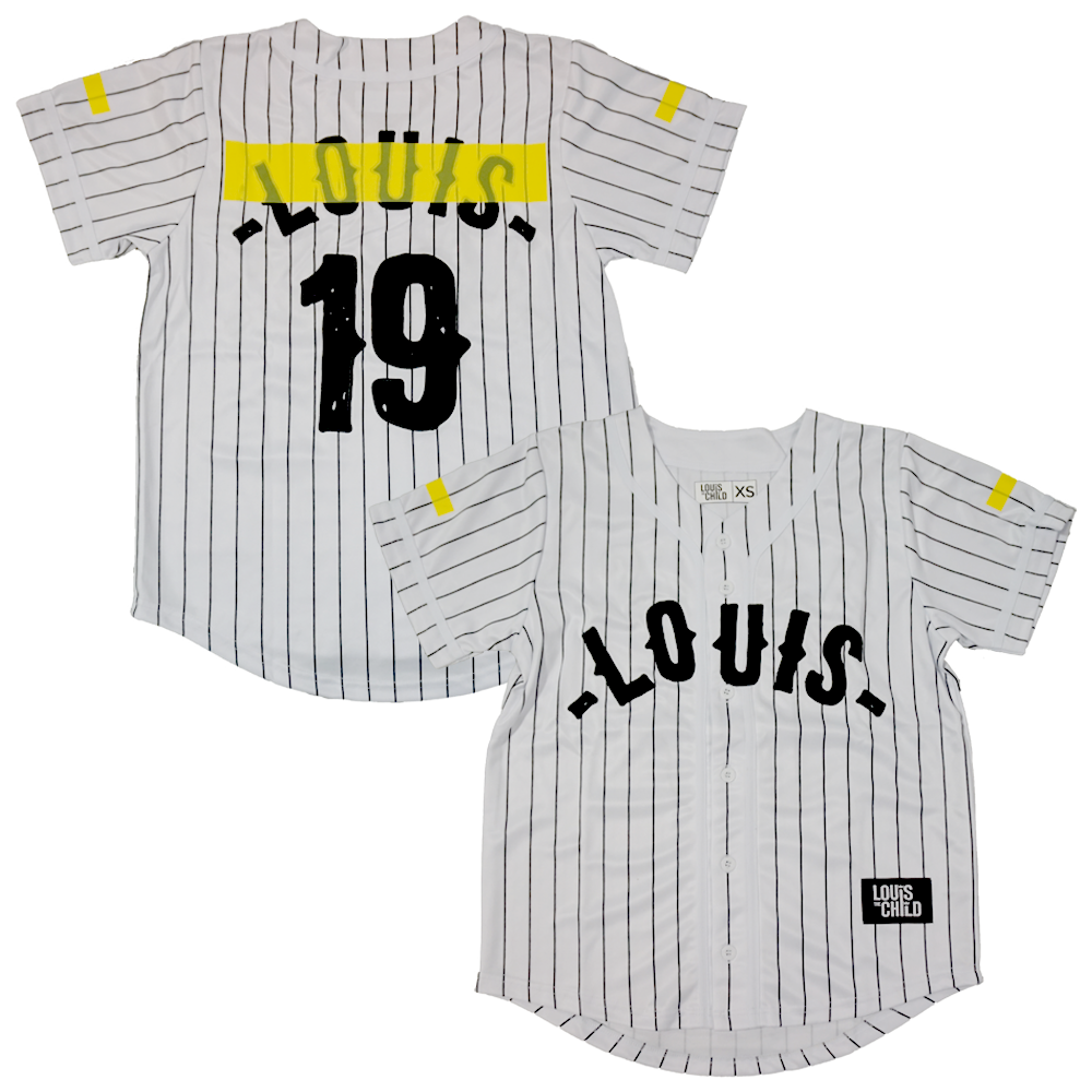 Pinstripe Jersey with Yellow Tape