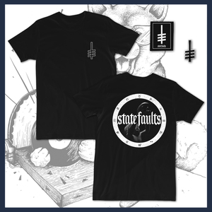 DK126: State Faults - Clairvoyant - T-Shirt / Patch / Enamel Pin - Tour Leftovers