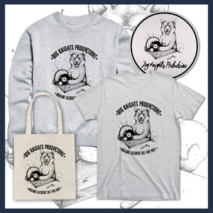 DK Merch: Dog Knights - Logo - T-Shirt / Crewneck / Tote Bag / Slipmat