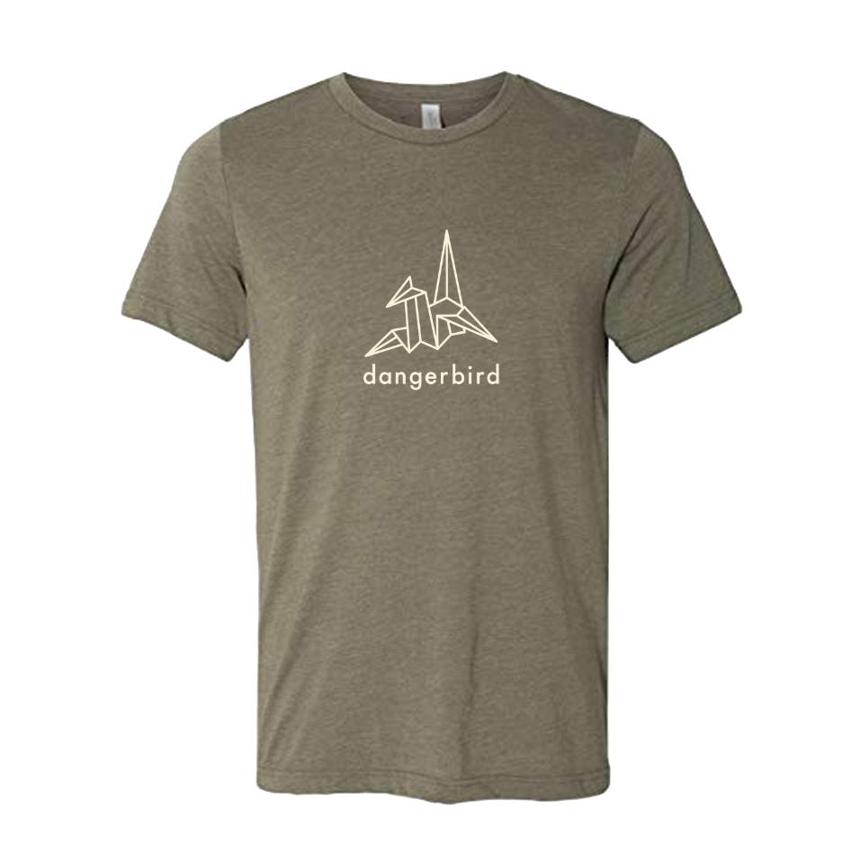 Dangerbird Logo Olive Triblend T-Shirt