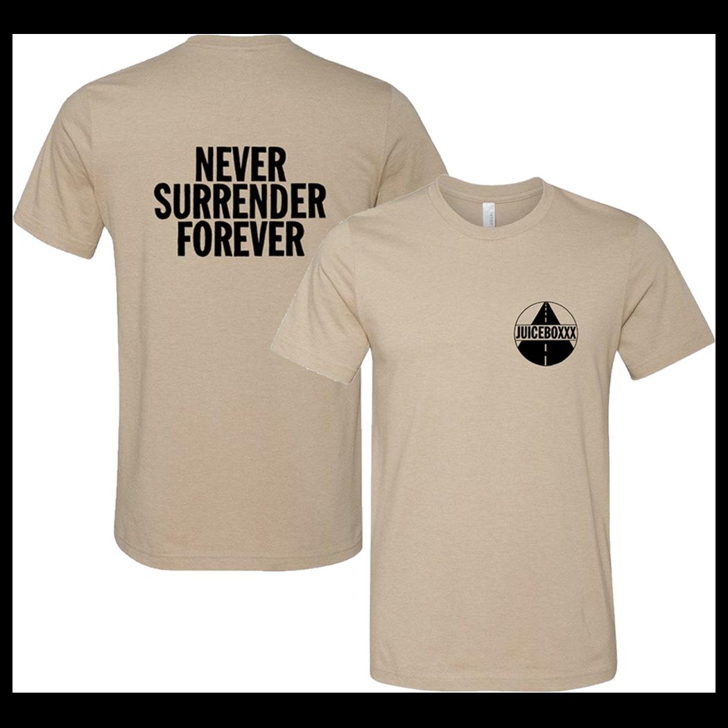 Juiceboxxx - Never Surrender Forever Heather Tan T-Shirt