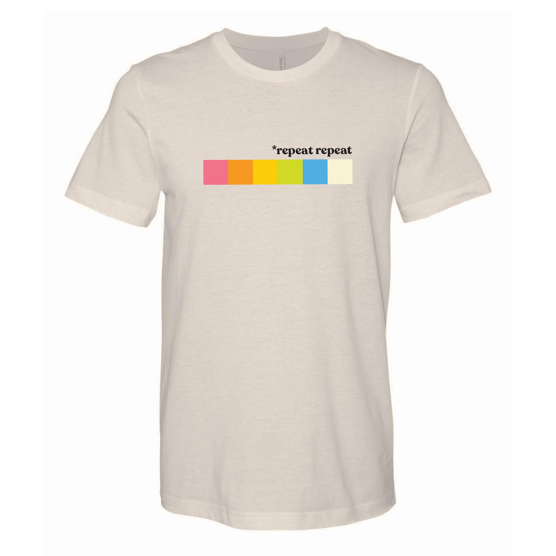 *repeat repeat - Color Blocks White T-Shirt