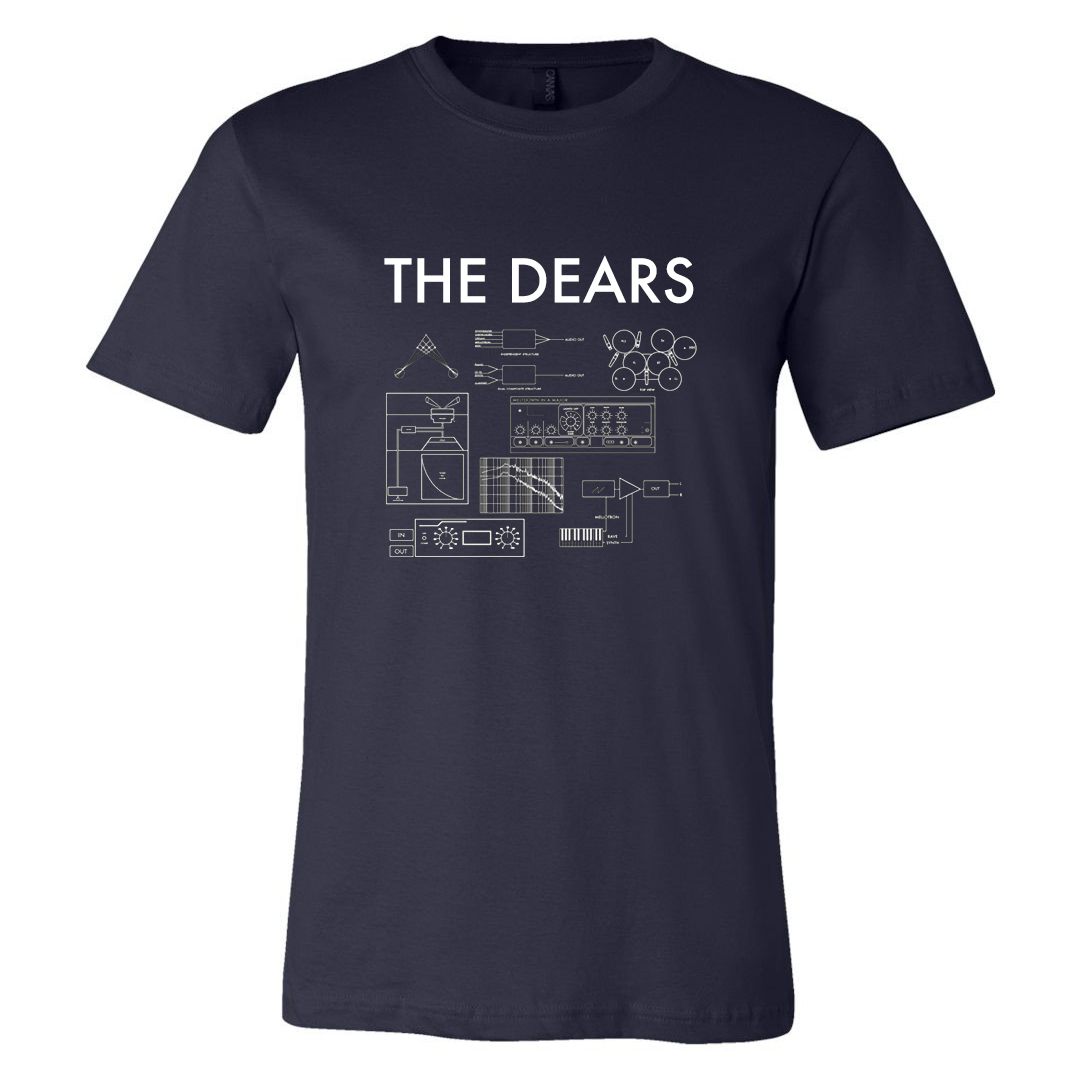 The Dears - Missiles Navy T-Shirt