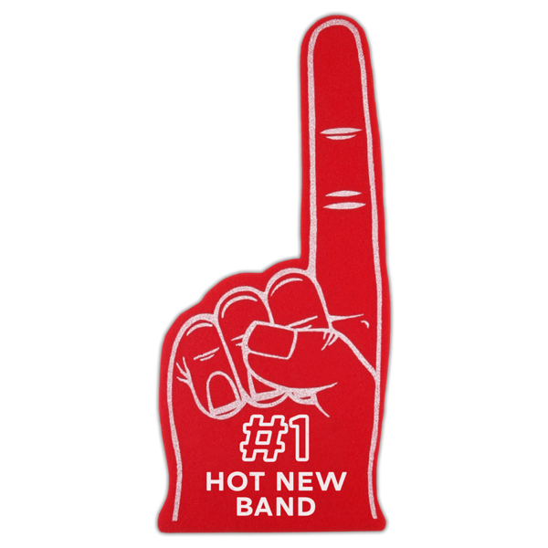 Hot Mulligan Merch - #1 Hot Band Foam Finger