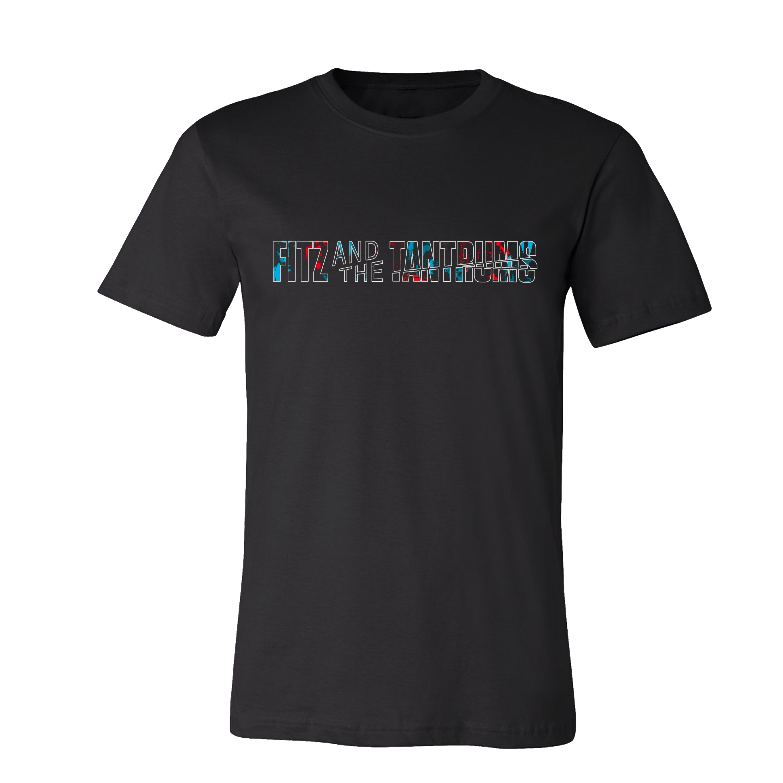 Fitz & The Tantrums - Horizontal Logo Black T-Shirt