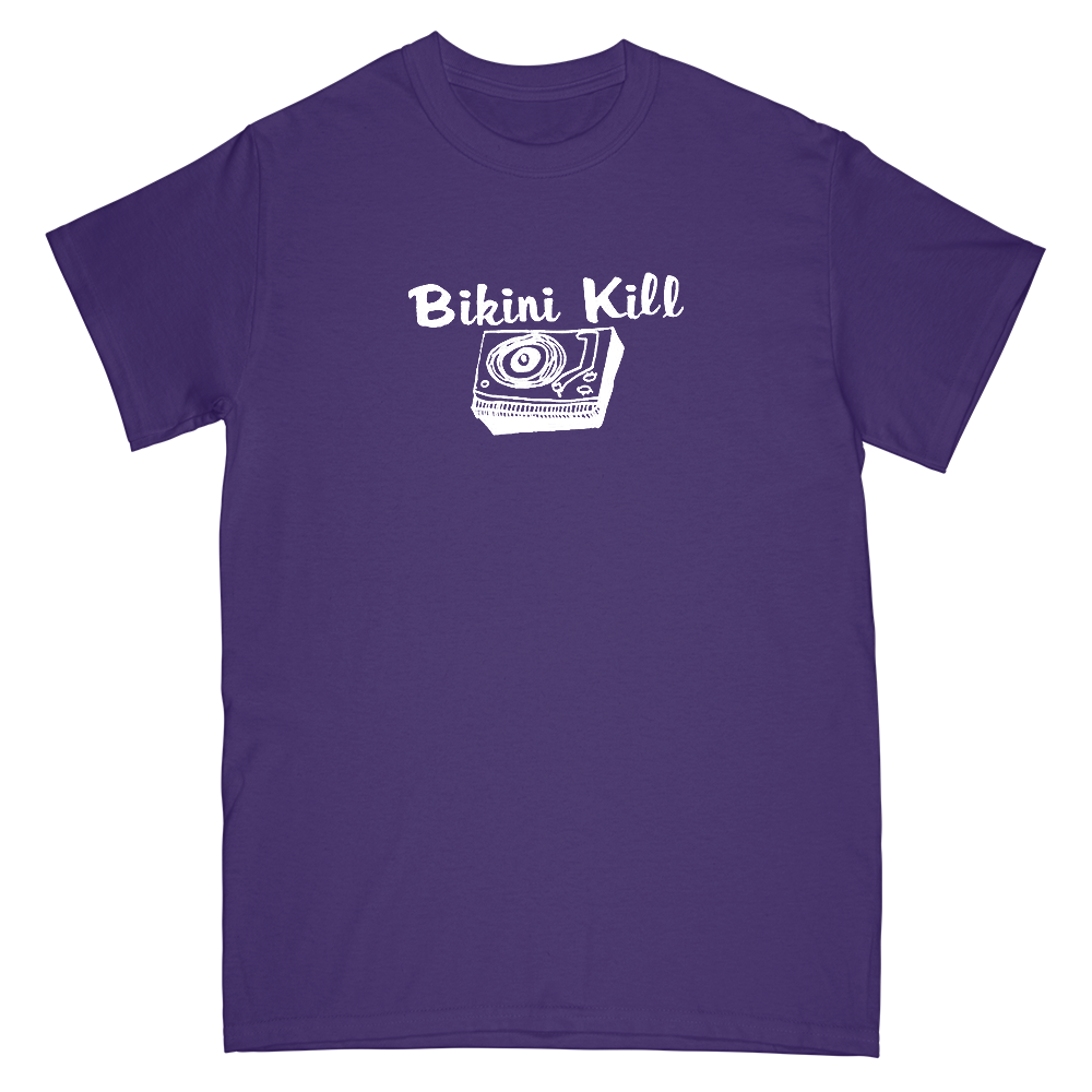 Record Player Tee - Purple and White Ink