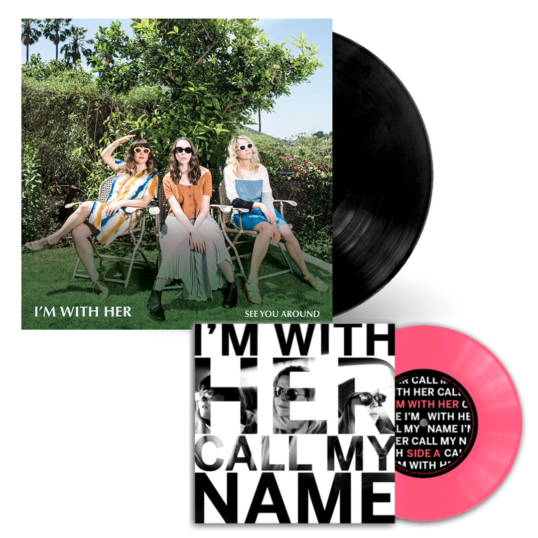 "I'm With Her ""See You Around"" + ""Call My Name"" Bubblegum Pink 7"" Bundle"