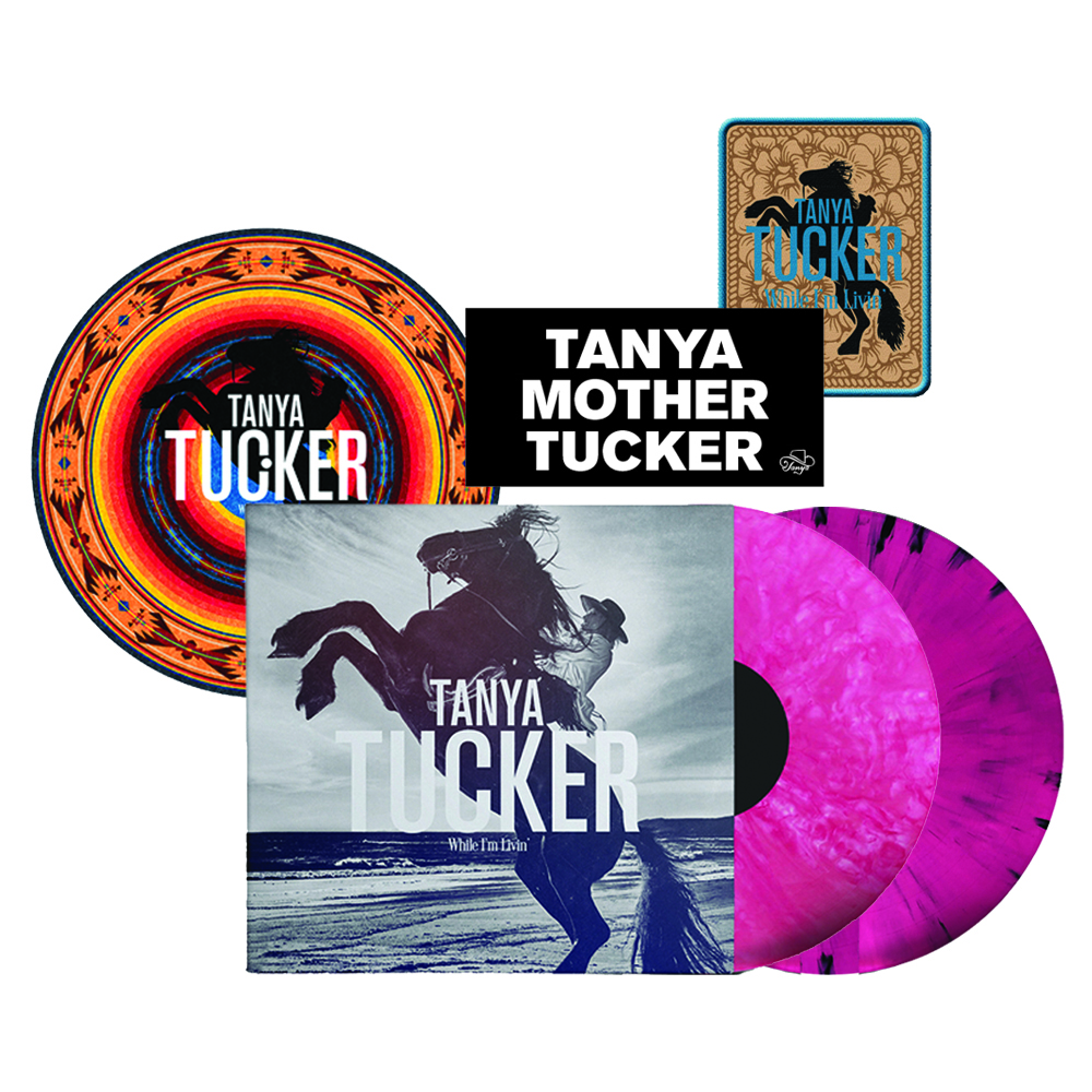 "Signed or Unsigned Bubblegum or Pink Marbled with Black Vinyl LP + Turntable Mat (optional) + Woven Patch (4"" x 3"") + Bumper Sticker"