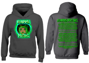 AfroWoman: Green Nappy Pride Heavyweight Hoodie