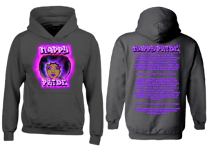 AfroWoman: Purple Nappy Pride Heavyweight Hoodie