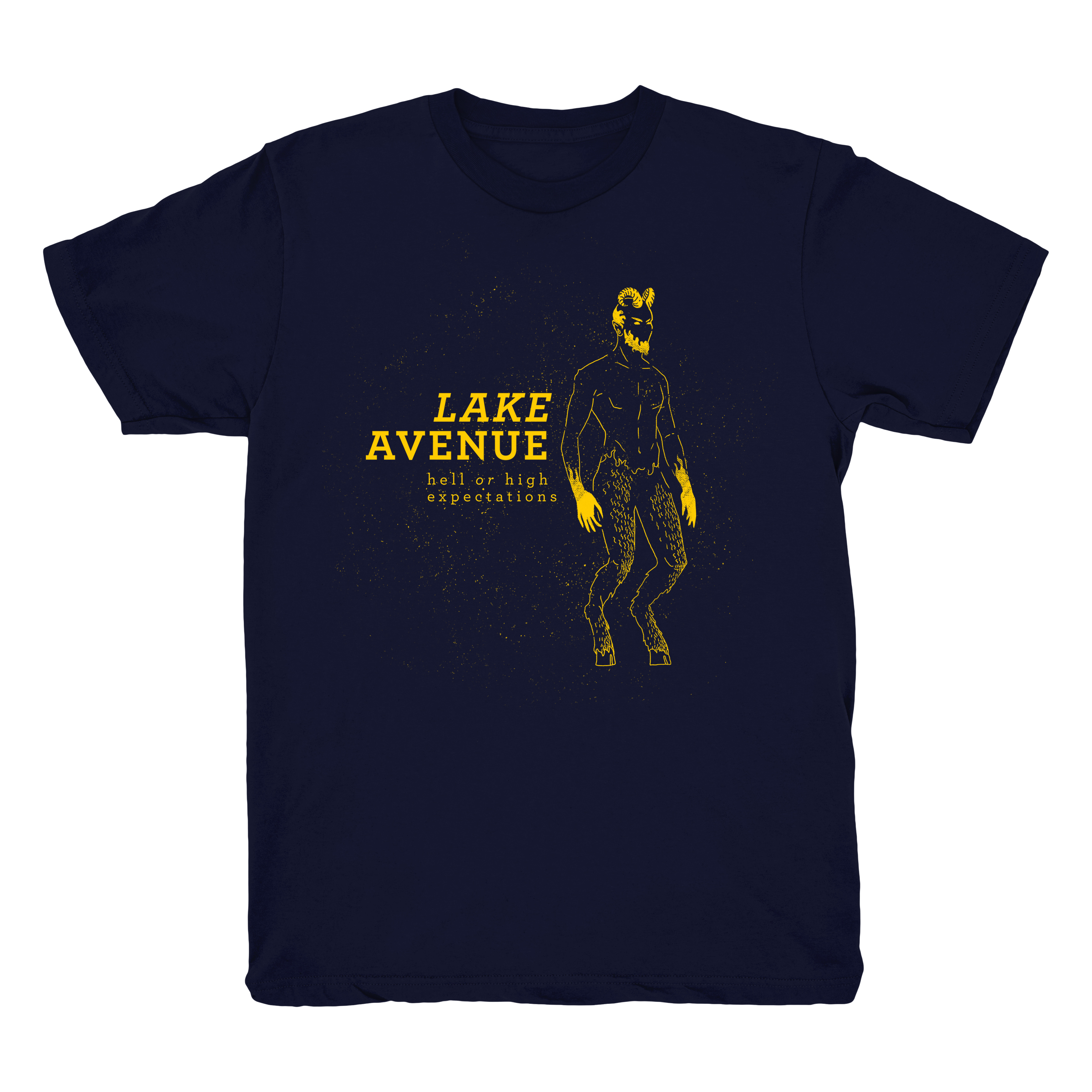 Lake Avenue Satyr Tee - Navy/Gold