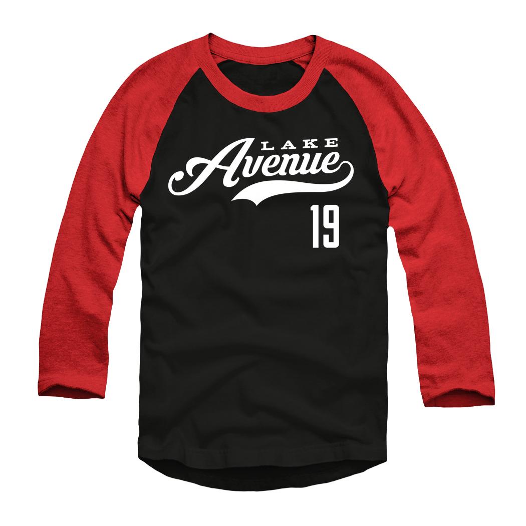 Lake Avenue Jersey Baseball Tee - Black/Red/White