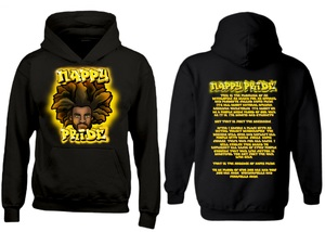 AfroMan: Gold NappyPride Heavyweight Hoodie