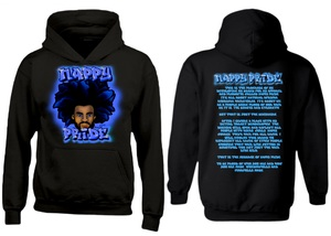 AfroMan: Blue NappyPride Heavyweight Hoodie