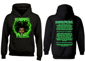 AfroMan: Green NappyPride Heavyweight Hoodie