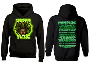 AfroMan Lime Green NappyPride Heavyweight Hoodie