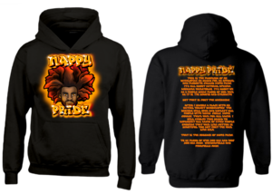 AfroMan: Orange NappyPride Heavyweight Hoodie
