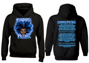 AfroMan Light Blue NappyPride Heavyweight Hoodie
