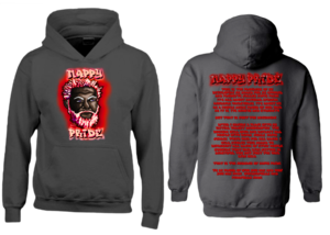Dark WhiteFox Red NappyPride Heavyweight Hoodie
