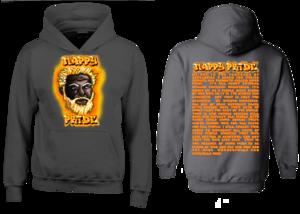 Dark WhiteFox Orange NappyPride Heavyweight Hoodie