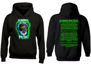 Dark WhiteFox Green-Blue NappyPride Heavyweight Hoodie