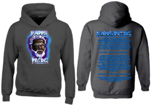 Dark WhiteFox Blue-Purple NappyPride Heavyweight Hoodie