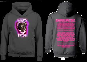Dark WhiteFox Pink NappyPride Heavyweight Hoodie