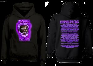 Dark WhiteFox Purple NappyPride Heavyweight Hoodie