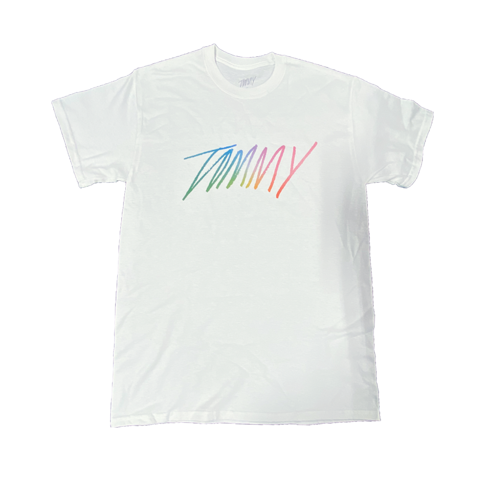 Rainbow Tommy Tee - White