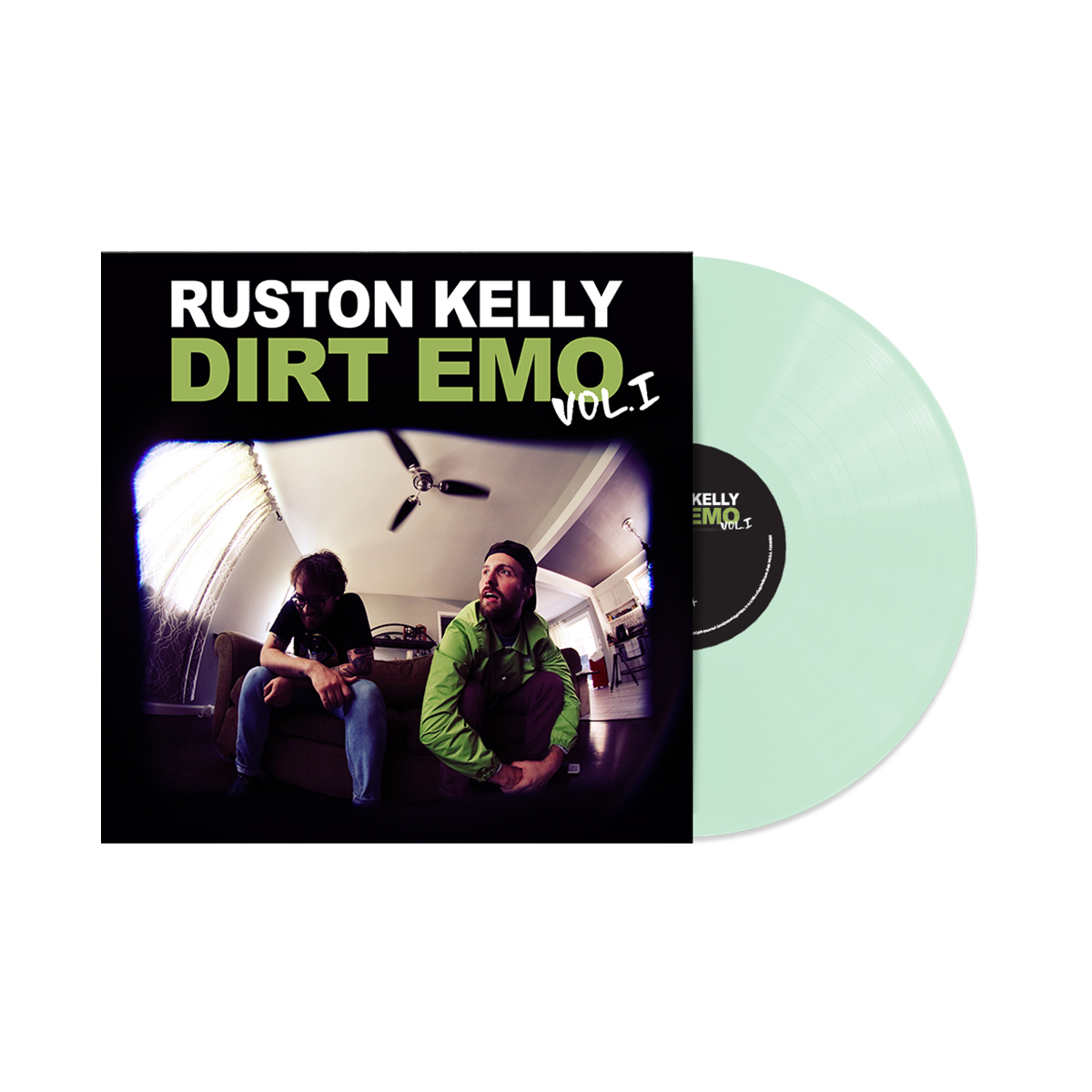Ruston Kelly Prescription Black Tee Shirt (Unisex) + Dirt Emo Vol 1. Glow-in-the-dark Vinyl or download (optional)