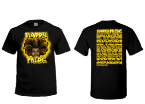 AfroMan Gold NappyPride T-Shirt