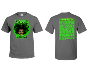 AfroMan Green NappyPride T-Shirt