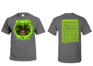 AfroMan Lime Green NappyPride T-Shirt