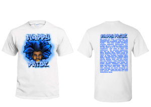 AfroMan Light Blue NappyPride T-Shirt