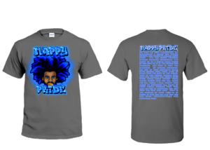 AfroMan Blue NappyPride T-Shirt