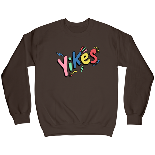 Yikes Crewneck - Chocolate