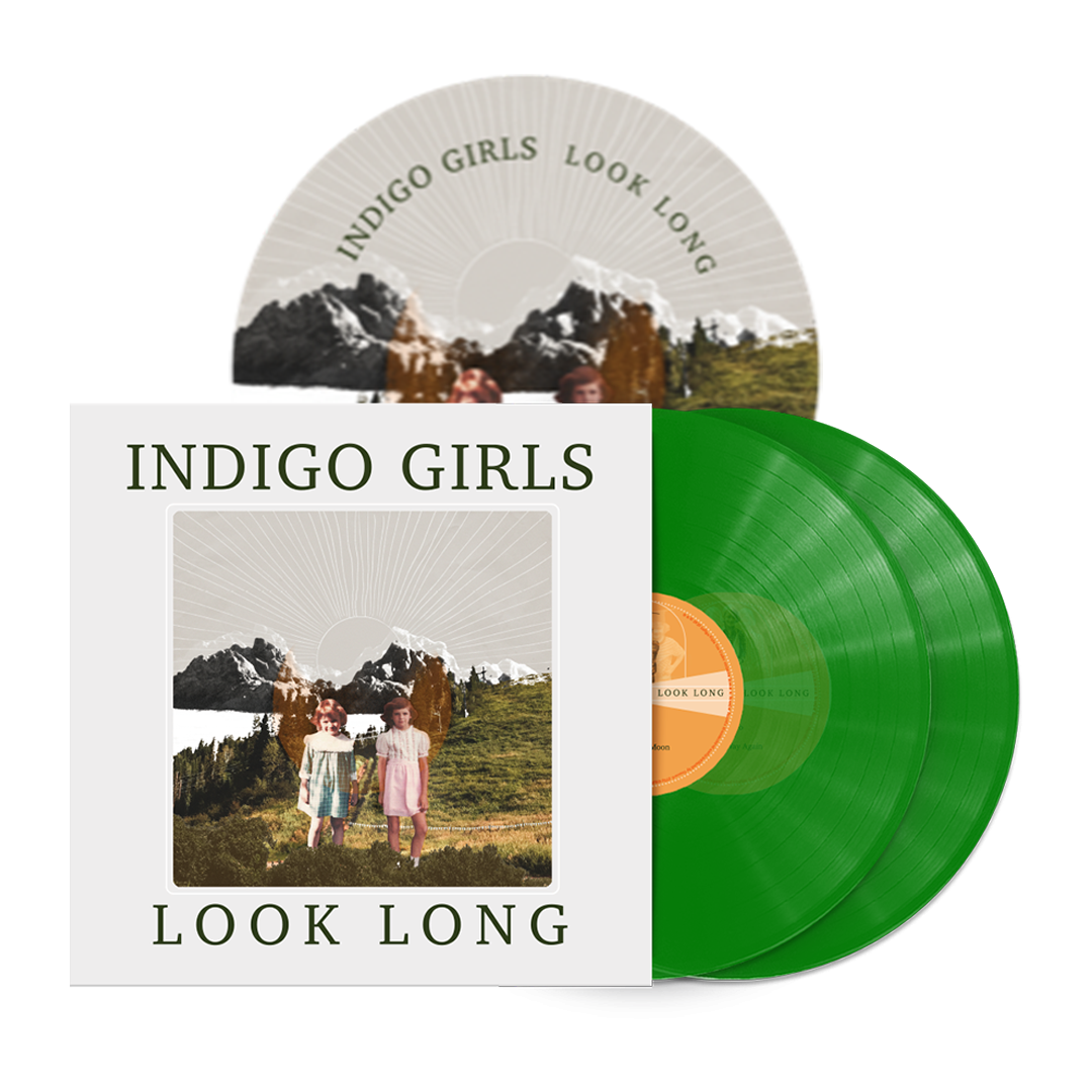 Signed or Unsigned Look Long 2xLP Translucent Green 2xLP Vinyl + Poster + Patch