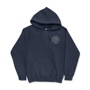 Navy Chest Logo Hoodies