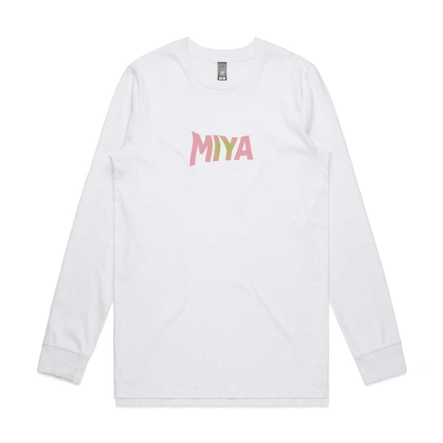 Miya Folick Over My Dead Body White Long Sleeve Tee
