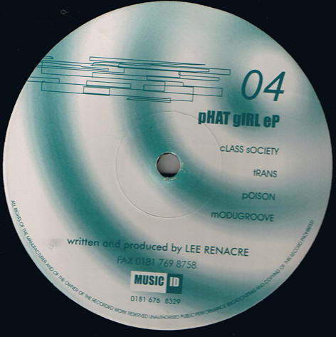 Lee Renacre ‎– Phat Girl EP (Format Records)