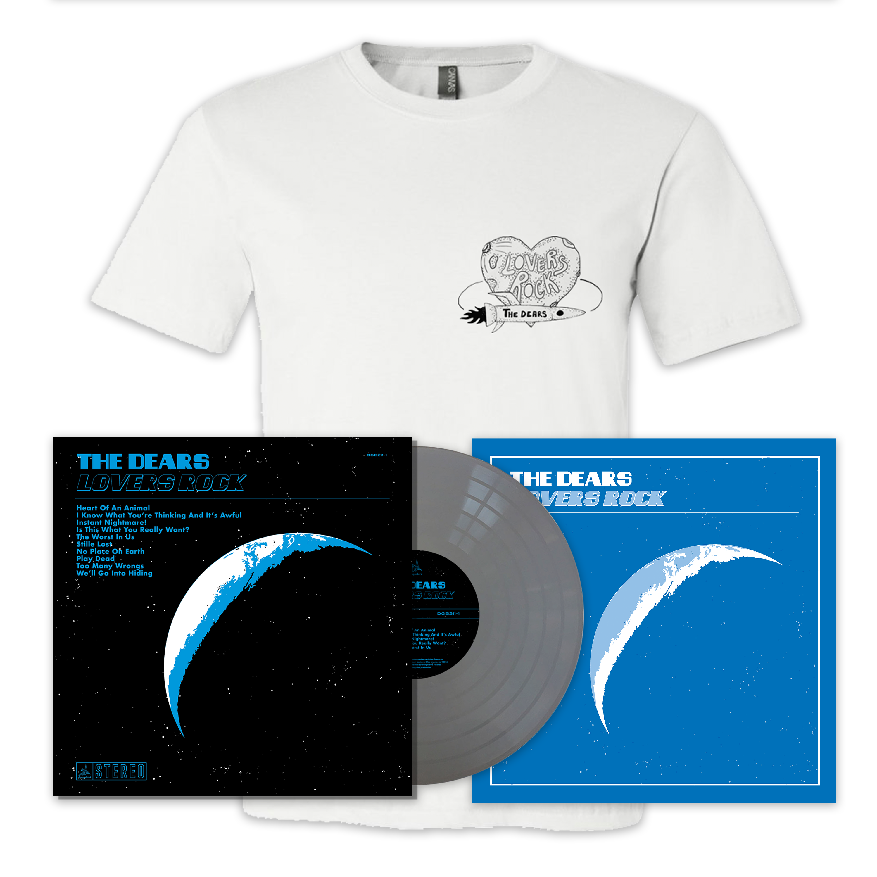 The Dears - Lovers Rock - LP + Shirt + Poster Bundle