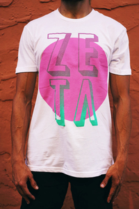 Zeta - Miami Vice Logo (Grey or White)