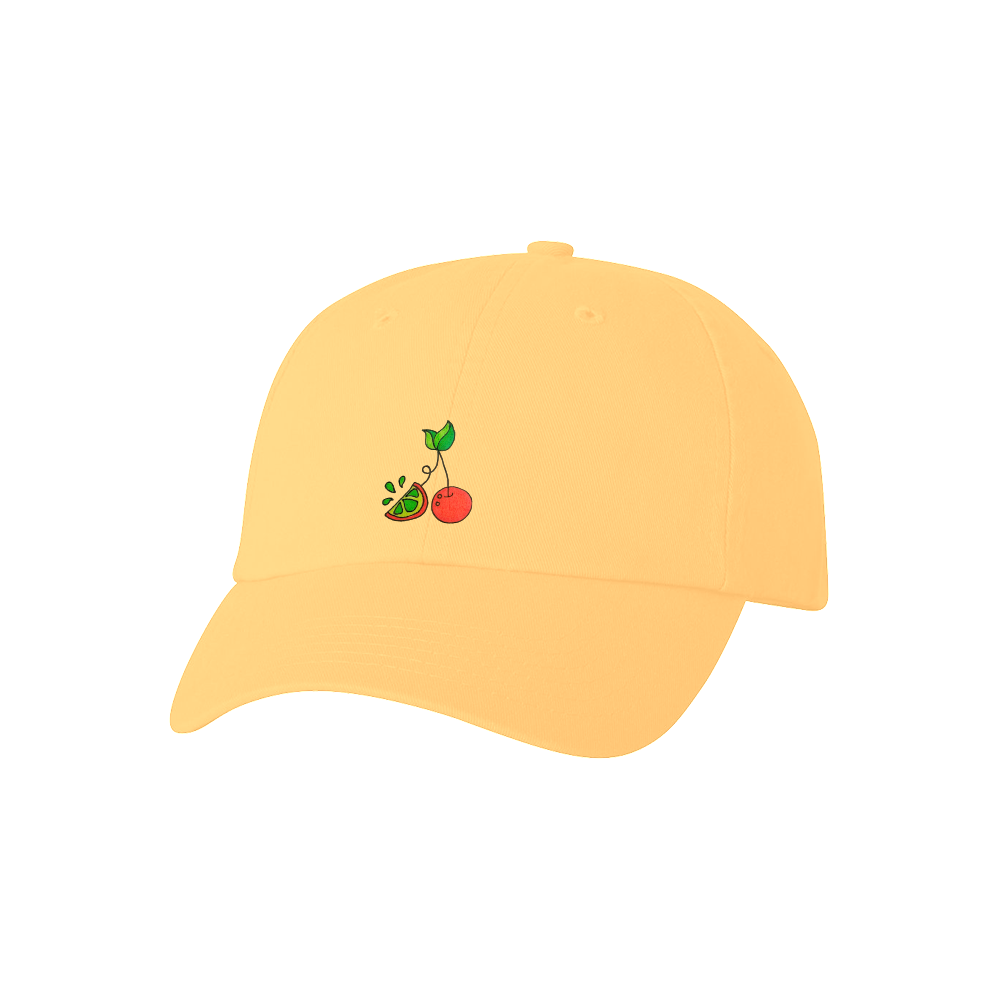 Cherry Lime Hat - Yellow