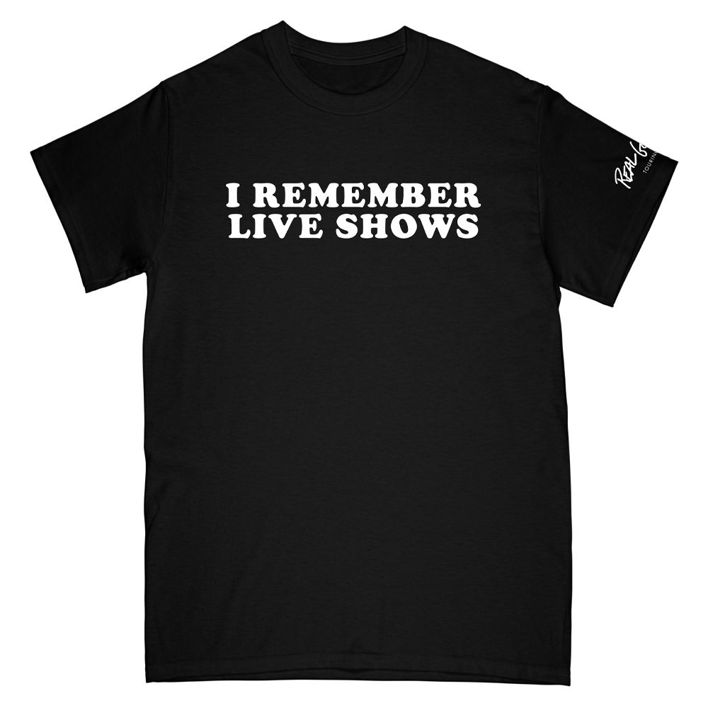 I Remember Live Shows Black Tee