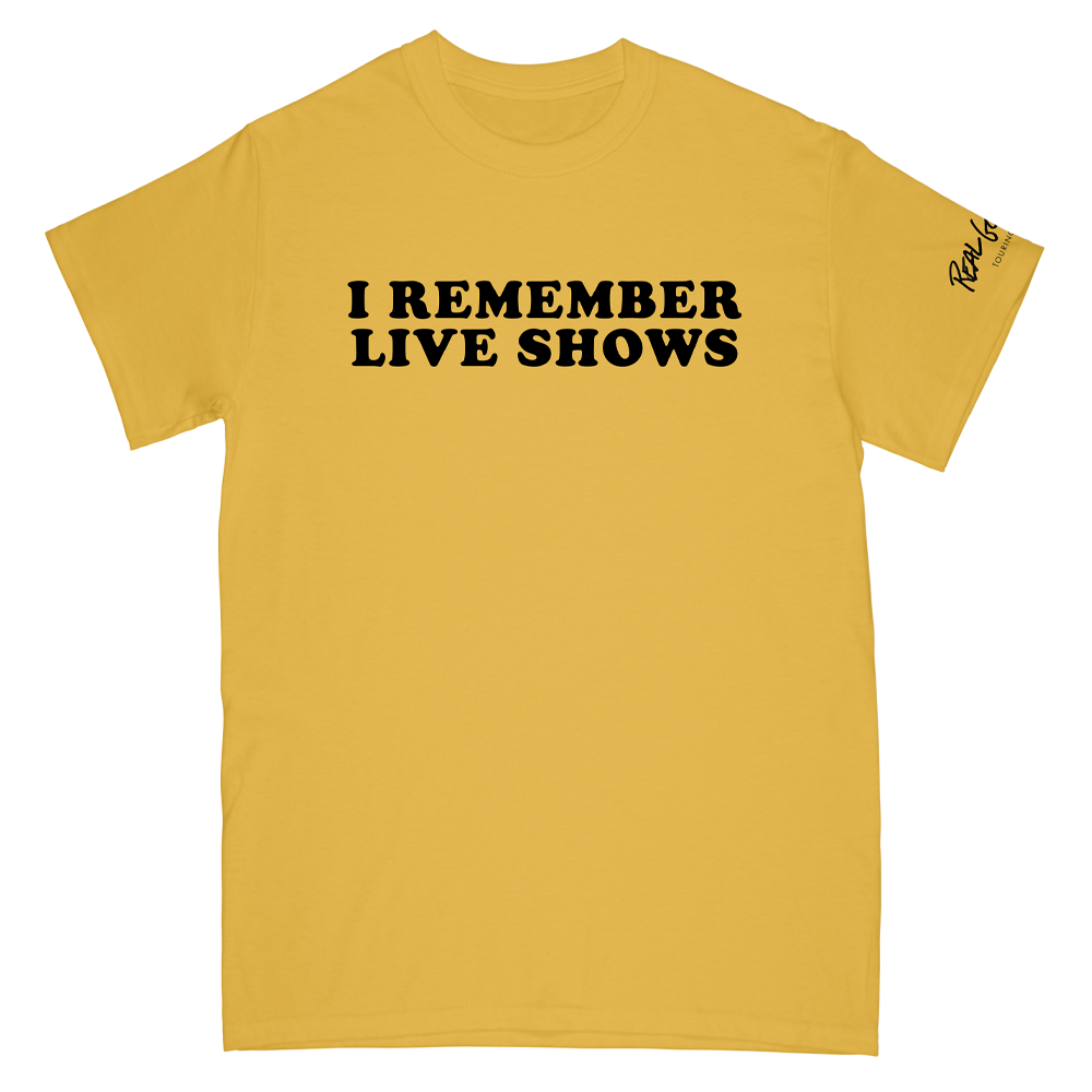 I Remember Live Shows Yellow Tee