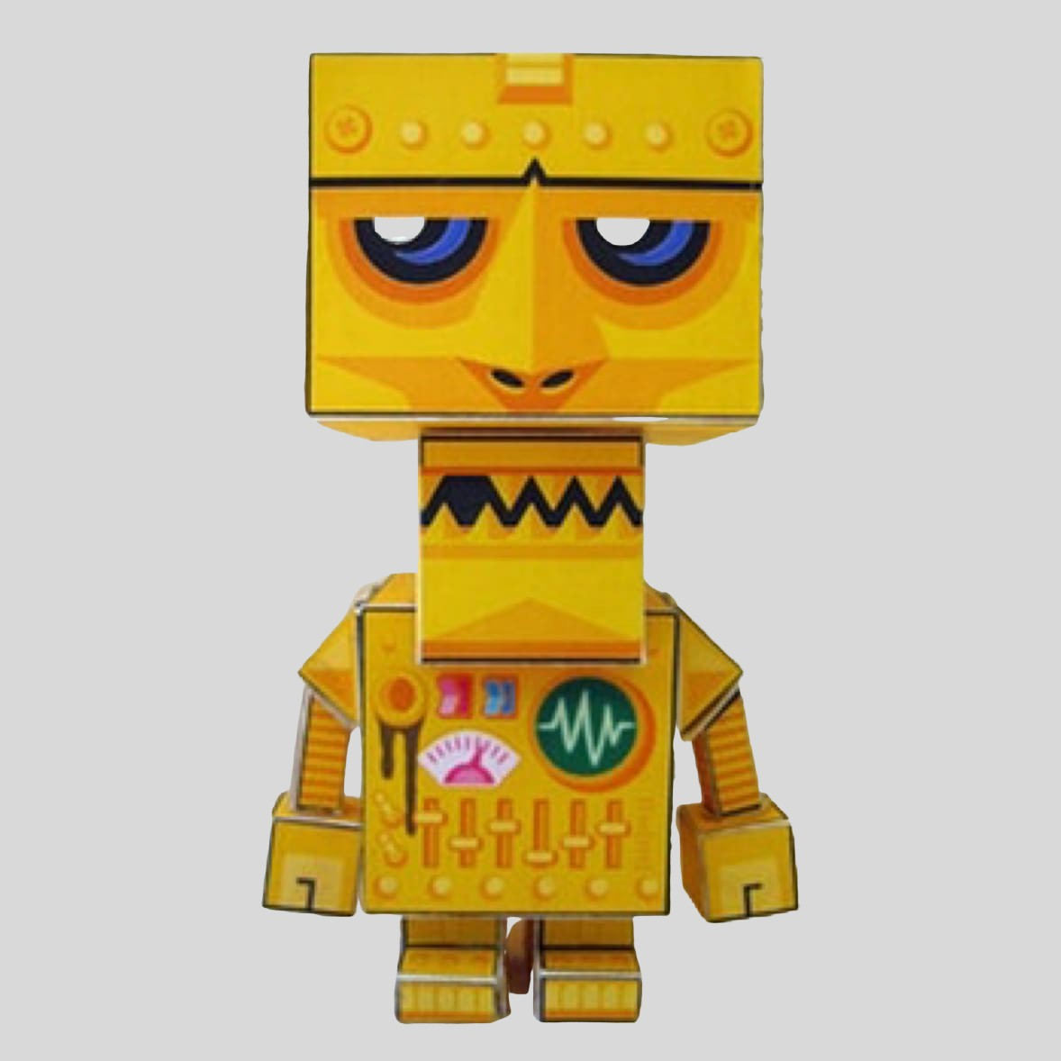 Free Download - Fold Your own Paper Robot