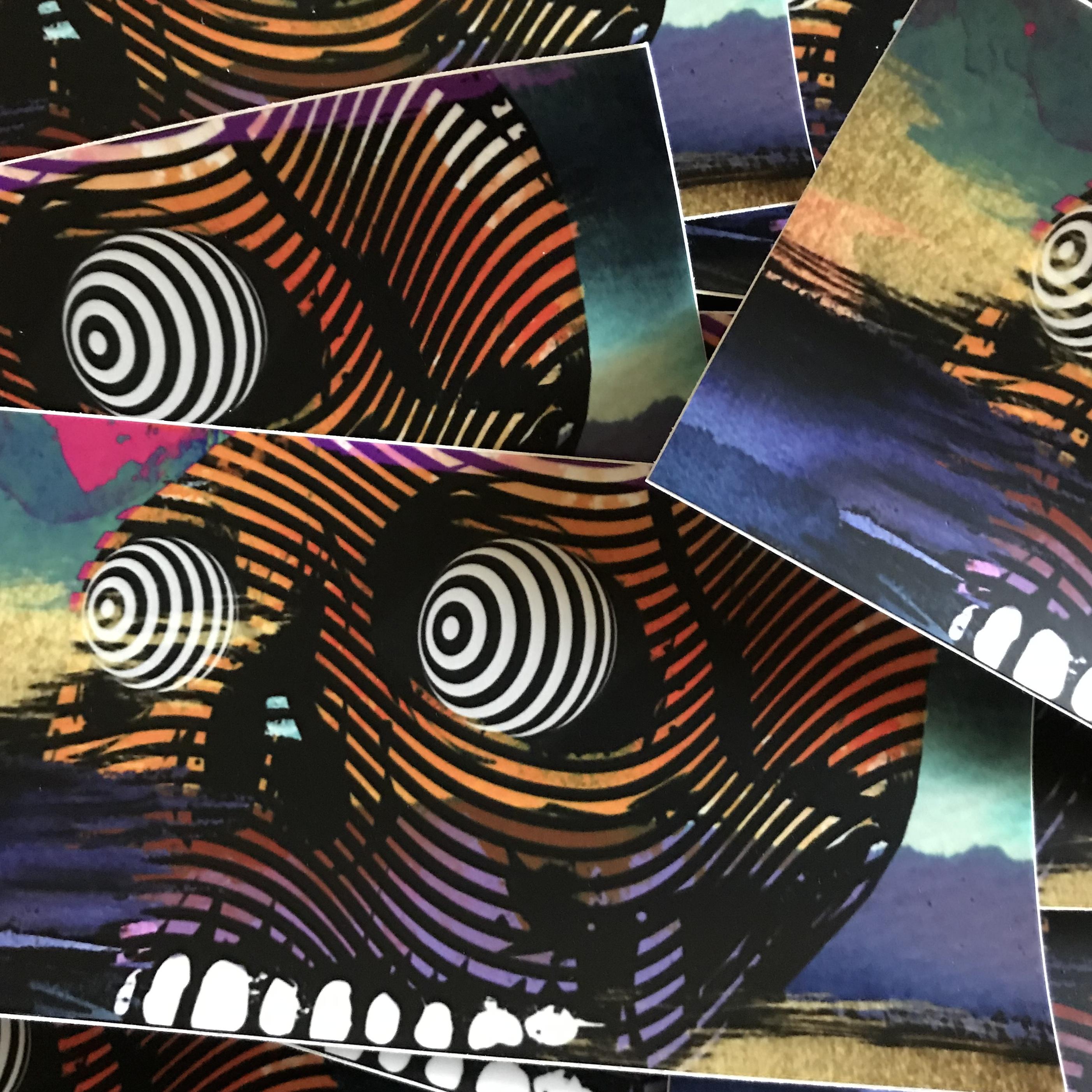 Skull Vinyl Bumper Sticker By Vincent Fiorello