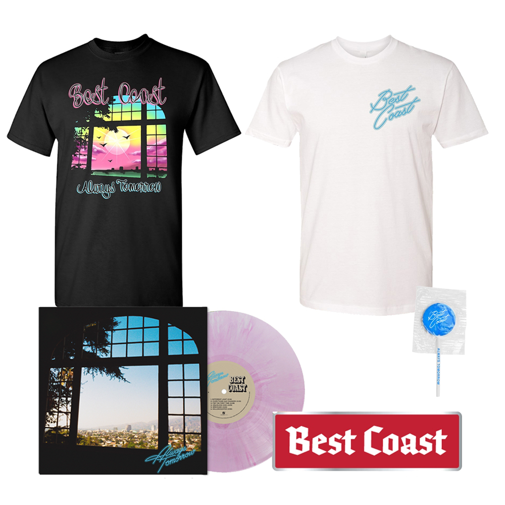 Signed Exclusive Pink Marble LP + Tee Shirt + Lollipop + Bumper Sticker